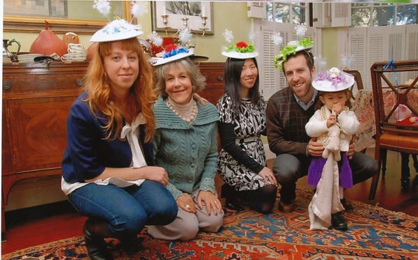 I made all the hats myself for my children Meribah and Max and his wife Kathy